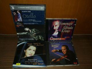 Opera otello dvd Plácido,Alfredo Kraus, violin cds
