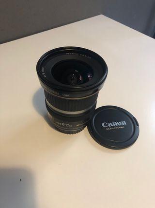 Objetivo Canon 10-22