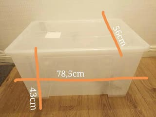 Ikea storage box with lid and wheels