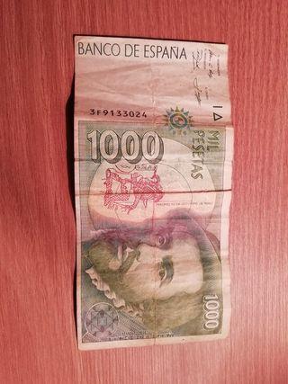 Billete mil pesetas 1992