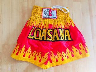 Pantalón short Muay Thai, talla XL