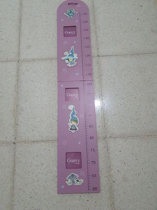 Porta fotos medidor altura niños