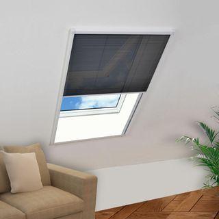 vidaXL Mosquitera plisada para ventanas 142611