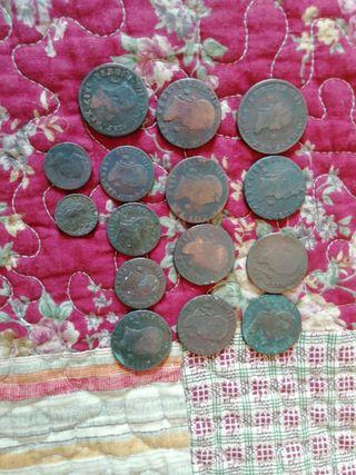 15 monedas de Fernando VII
