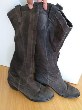 Botas de ante Pepe Jeans gris oscuro
