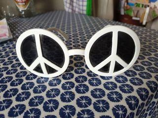 gafas de sol hippie style peace