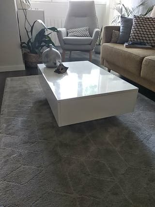 mesa centro lacada blanca