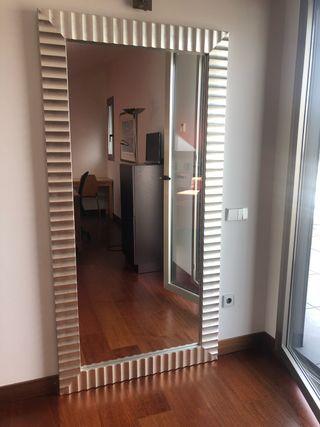 Espejo moldura plata