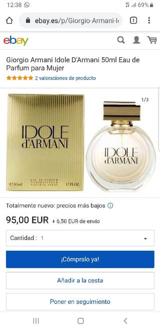 PERFUME MUJER IDOLE D'ARMANI
