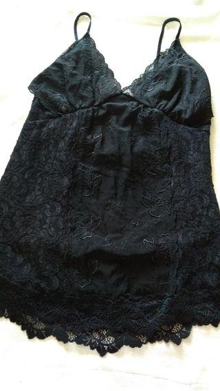 top negro vestir negro