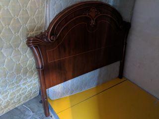 cabecero rústico de madera para cama de 135