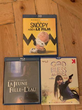 Pack de 3 películas en Blu-Ray ediciones francesas