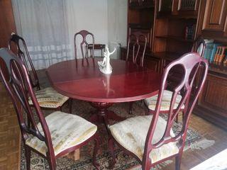 Mesa comedor extensible+6 sillas.Adjunto factura. de segunda