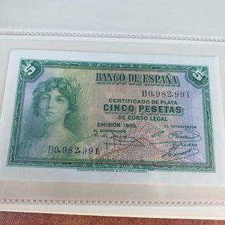 Billete 5 pesetas republica