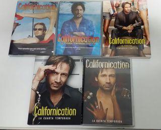 Californication 5 temporadas en dvd