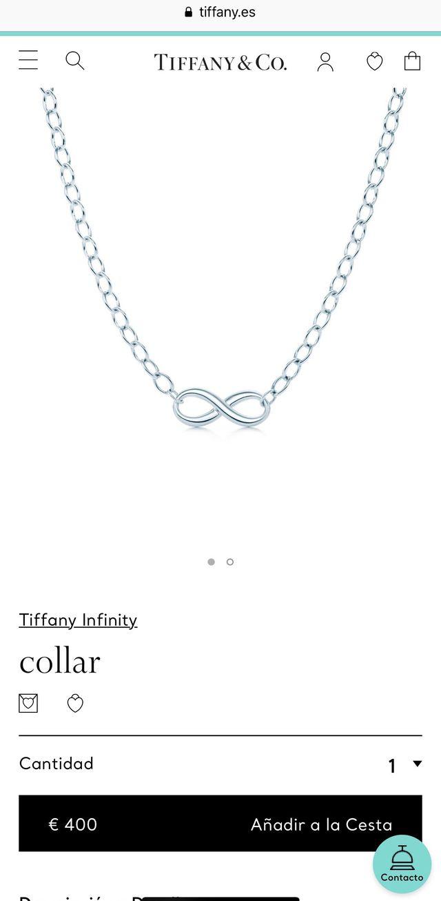 Collar Infinity de Tiffany original y nuevo