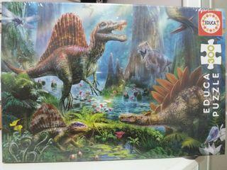 Puzzle sin abrir dinosaurios