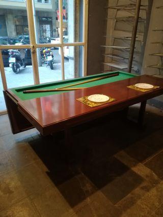 espectacular mesa billar y mesa de comedor