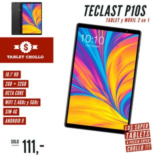Tablet + Movil 10.1' / HD / 2GB / Octa