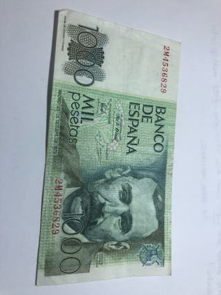 1000 pesetas old note