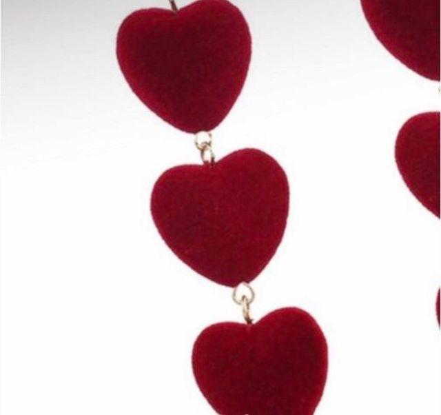 Pendientes largos corazón