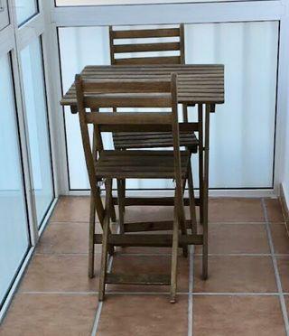 Mesa y sillas jardín Ikea