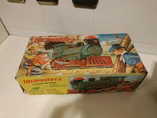 locomotora jyesa tren antiguo de juguete vintage.