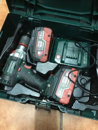 Taladro Metabo SB 18 LTX BL I 2 baterias y carga