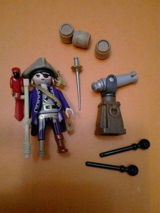 Playmobil pirata loro muleta y cañón