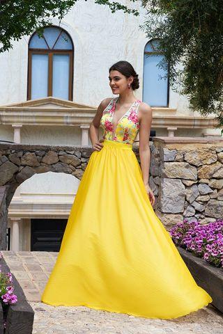 Vestido amarillo Silvia Navarro