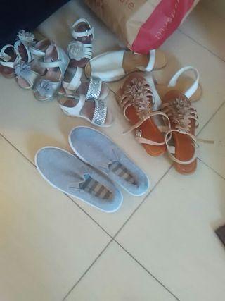 lote zapatos chica y nina