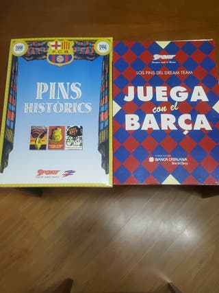 2 Colecciones de pins del Barça.