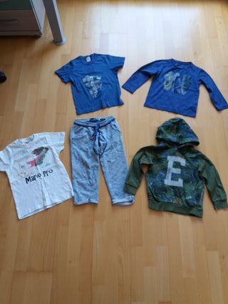 Lote ropa, talla 4 o 5 segun la prenda