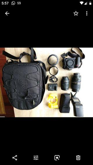cámara Nikon 7100 y objetivos