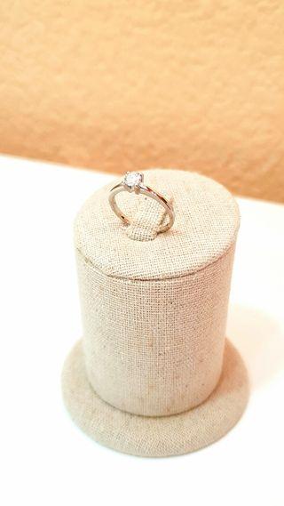 Solitario oro 18 kts y diamante