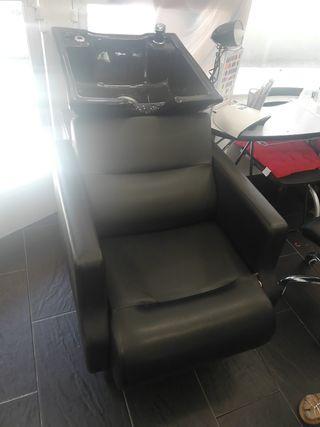 sillón lava cabezas peluquería