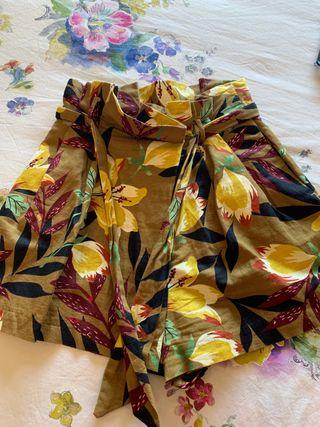 Bermuda short estampada lino chica