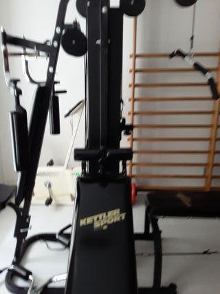 Torre musculación + bici estática + cinta