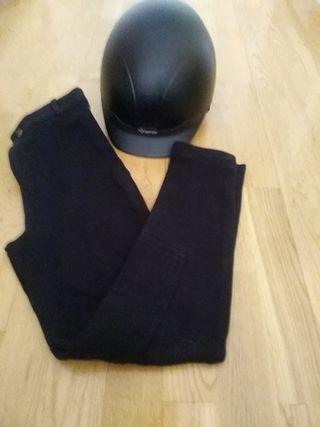 pantalon y casco hipica