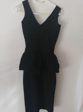 vestido negro talla xs