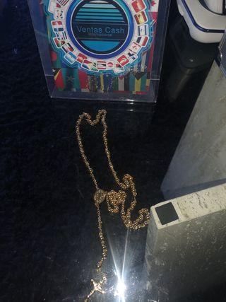 rosario de oro laminado 18k