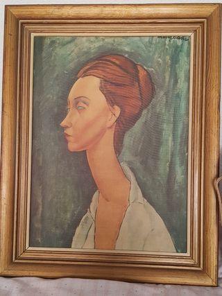 cuadro retrato de Lunia czechowska Modigliani