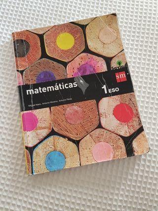 Libro de texto Matemáticas 1ESO Editorial SM