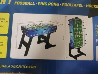 Multijuego plegable 4 en 1 ( futbolín...)