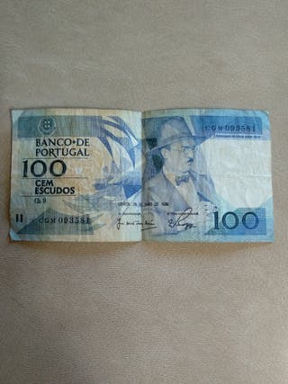 BILLETE 100 ESCUDOS PORTUGAL 1988