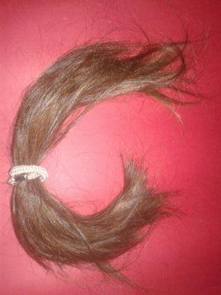 cabello natural coleta + trenza