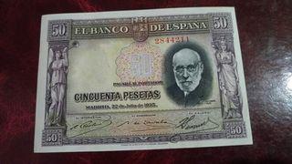 Billete de 50 pesetas año 1935