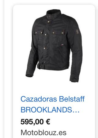CAZADORA BELSTAFF BROOKLANDS 2.0 WAX