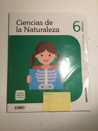 Libro de Naturales Madrid sexto de primaria