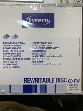 7 CD's regrabable 700 MB